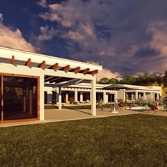 Casa de Playa: Terrazas  de estilo  por Atelier Arquitectura