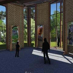 Exhibition centres by TELLUS ARQUITETURA SUSTENTÁVEL