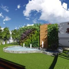Residência I. H.: Lagos e Lagoas de jardins  por TELLUS ARQUITETURA SUSTENTÁVEL