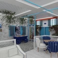 Altuncu İç Mimari Dekorasyon – Alaçatı cafe (Halkalı):  tarz Yeme & İçme