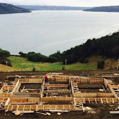 Chalets  por Constructora Patagonia Sustentable