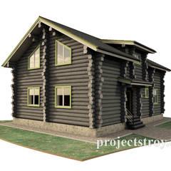 Проект деревянного дома из сухостойной сосны: Деревянные дома в . Автор – Projectstroy