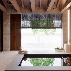 Piscinas desbordantes de estilo  por Архитектурная студия Чадо