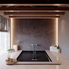 Piscinas infinitas de estilo  por Архитектурная студия Чадо