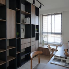 Study/office by 極簡室內設計 Simple Design Studio