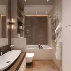 Дизайн-проект в Парк Авеню, 62 кв.м.: Ванные комнаты в . Автор – Loft&Home