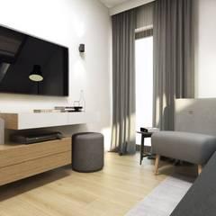 Pokój gościnny: styl , w kategorii Pokój multimedialny zaprojektowany przez MONOstudio