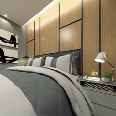 Salones de estilo moderno de Letícia Saldanha Arquitetura Moderno