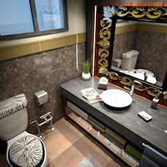 Guest Bathroom:  Bathroom by Ravenor's Design Solutions