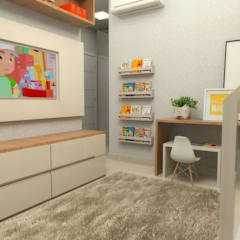 Quarto infantil: Quartos dos meninos  por Thaís Cericatto | Studio de Arquitetura