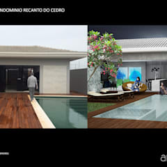 Projeto 1401: Piscinas  por Archibox Arquitetura
