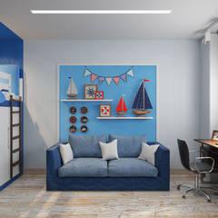 Chambre d'enfant de style de style Méditerranéen par Гузалия Шамсутдинова | KUB STUDIO