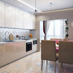 مطبخ تنفيذ Гузалия Шамсутдинова | KUB STUDIO