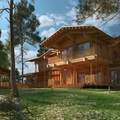 ДЕРЕВЯННЫЙ ДОМ CHALET-390: Деревянные дома в . Автор – project-ks,