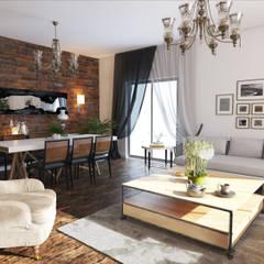 Öykü İç Mimarlık – Özel projelendirme:  tarz Oturma Odası