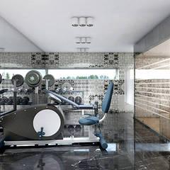 TAKE THE PLUNGE! | II | Wnętrza rezydencji Nowoczesna siłownia od ARTDESIGN architektura wnętrz Nowoczesny