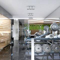 TAKE THE PLUNGE! | II | Wnętrza rezydencji: styl , w kategorii Siłownia zaprojektowany przez ARTDESIGN architektura wnętrz,
