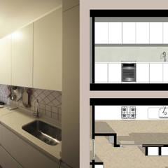 Arredare il Soggiorno con Librerie in Cartongesso: Cucinino in stile  di JFD - Juri Favilli Design