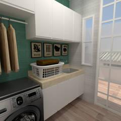 مطبخ تنفيذ Dayane Medeiro Arquitetura e Interiores