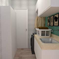 Cocinas de estilo  por Dayane Medeiro Arquitetura e Interiores,