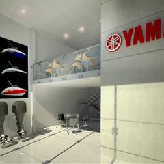 Tienda Yamaha - Vista Interior: Concesionarios de estilo  por Soluciones Técnicas y de Arquitectura