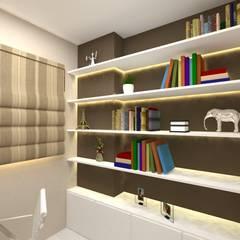 Imagem Home Office 01: Escritórios  por Dayane Medeiro Arquitetura e Interiores