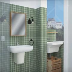 Lavanderia: Banheiros  por NATALIA BARTOLOMEO ARQUITETURA | DESIGN STUDIO