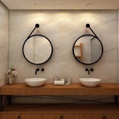 Banheiro suite: Banheiros  por Nuriê Viganigo