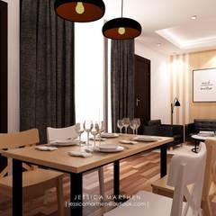 : Ruang Makan oleh JESSICA DESIGN STUDIO, Skandinavia