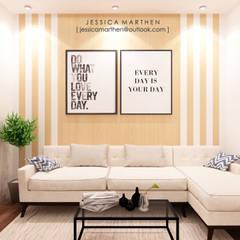 : Ruang Keluarga oleh JESSICA DESIGN STUDIO,
