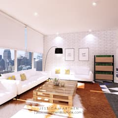 : Ruang Keluarga oleh JESSICA DESIGN STUDIO, Industrial