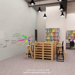 : Koridor dan lorong oleh JESSICA DESIGN STUDIO, Industrial