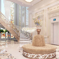 ​The art of luxury and comfort from Katrina Antonovich:  Corridor & hallway by Luxury Antonovich Design,