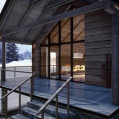 Dom w górach: styl , w kategorii Domy zaprojektowany przez Rijnboutt
