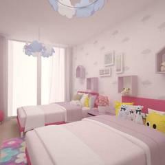 Детские комнаты: Спальни для девочек в . Автор – ARCHDUET&DA