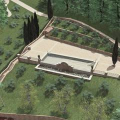Bio-Piscina per una Country House nelle Marche: Piscina in stile  di JFD - Juri Favilli Design