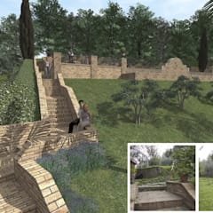 Bio-Piscina per una Country House nelle Marche: Giardino anteriore in stile  di JFD - Juri Favilli Design