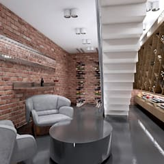 TAKE THE PLUNGE! | I | Wnętrza rezydencji | Projekt kuchni: styl , w kategorii Piwnica win zaprojektowany przez ARTDESIGN architektura wnętrz,
