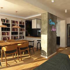 Dom szeregowy, Gdańsk, jadalnia: styl , w kategorii Jadalnia zaprojektowany przez Interior Idea Projektowanie Wnętrz