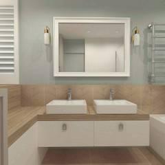 Dom szeregowy, Gdańsk, łazienka: styl , w kategorii Łazienka zaprojektowany przez Interior Idea Projektowanie Wnętrz