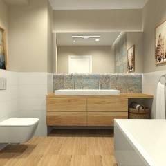 Baños de estilo mediterráneo por Interior Idea Projektowanie Wnętrz