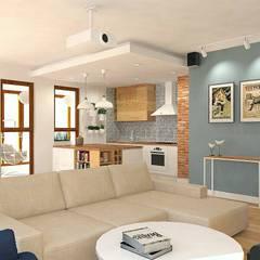 Mieszkanie Gdańsk Wrzeszcz: styl , w kategorii Salon zaprojektowany przez Interior Idea Projektowanie Wnętrz