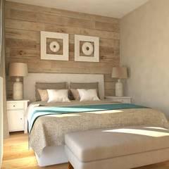 Mieszkanie Gdańsk Wrzeszcz: styl , w kategorii Sypialnia zaprojektowany przez Interior Idea Projektowanie Wnętrz