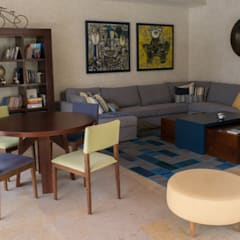 SALA TV: Salas de estilo  por NISPERO HOME