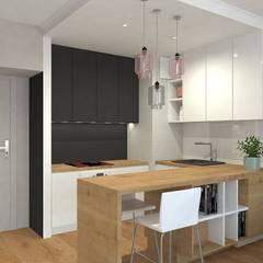 Mieszkanie w Gdańsku Wrzeszczu: styl , w kategorii Aneks kuchenny zaprojektowany przez Interior Idea Projektowanie Wnętrz