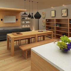 Mr. Arbianto Apartment:  Ruang Keluarga by Getto_id