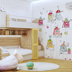 ห้องนอนเด็กหญิง by Interior designers Pavel and Svetlana Alekseeva