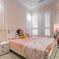 輕工業風溫馨小木屋:  嬰兒房/兒童房 by 傑羅設計事業有限公司