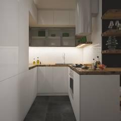 : Cocinas de estilo  por AIN projektowanie wnętrz