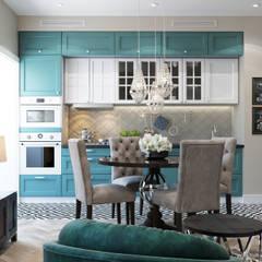 : Muebles de cocinas de estilo  por Interior designers Pavel and Svetlana Alekseeva